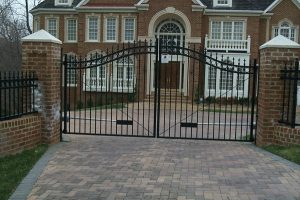 Ornamental Double Swing Gate with Operator