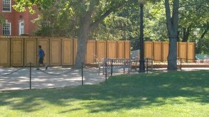 Decorative Plywood Temporary Screen Fence