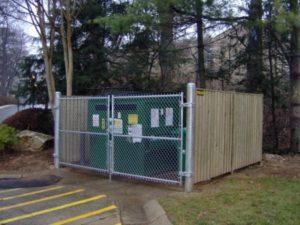 dumpster enclosure